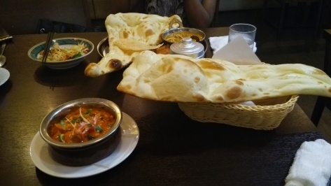 A decadent meal at an Indian-Nepalese restaurant where I got asked whether I was Nepalese